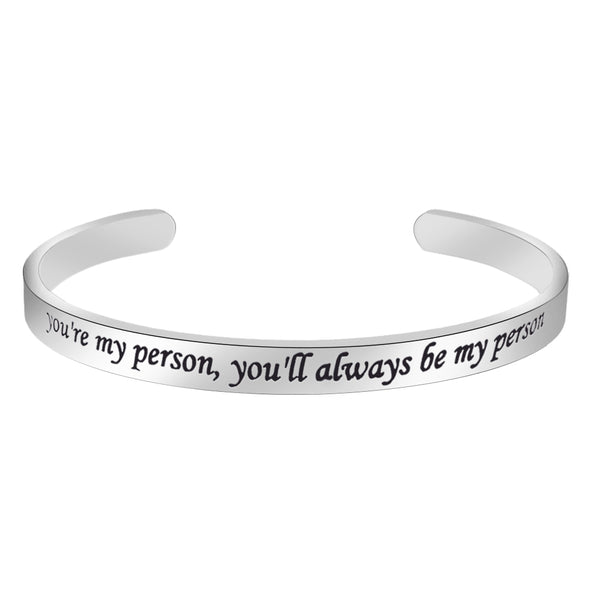 Bracelets for women - You're my person...You'll be always my person