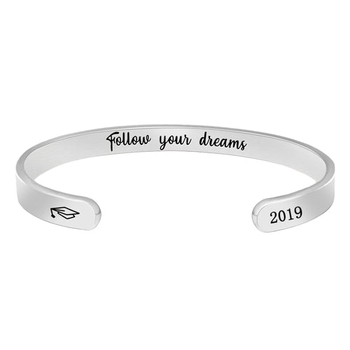 Inspirational bracelet - Follow your dreams-Cuff Bracelets-Btysun