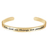 Inspirational bracelet - With god all things are possible-Cuff Bracelets-Btysun