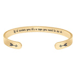 Friend bracelet - If it scares you, its a sign you need to do it