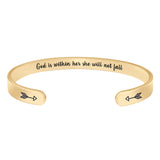 Gifts for Women - God is within her, she will not fall