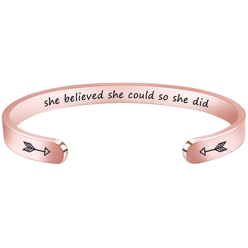 Bracelets women - She believed she could so she did