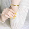 Gold bangles bracelets for women - Heart Fierce Mind Brave Spirit