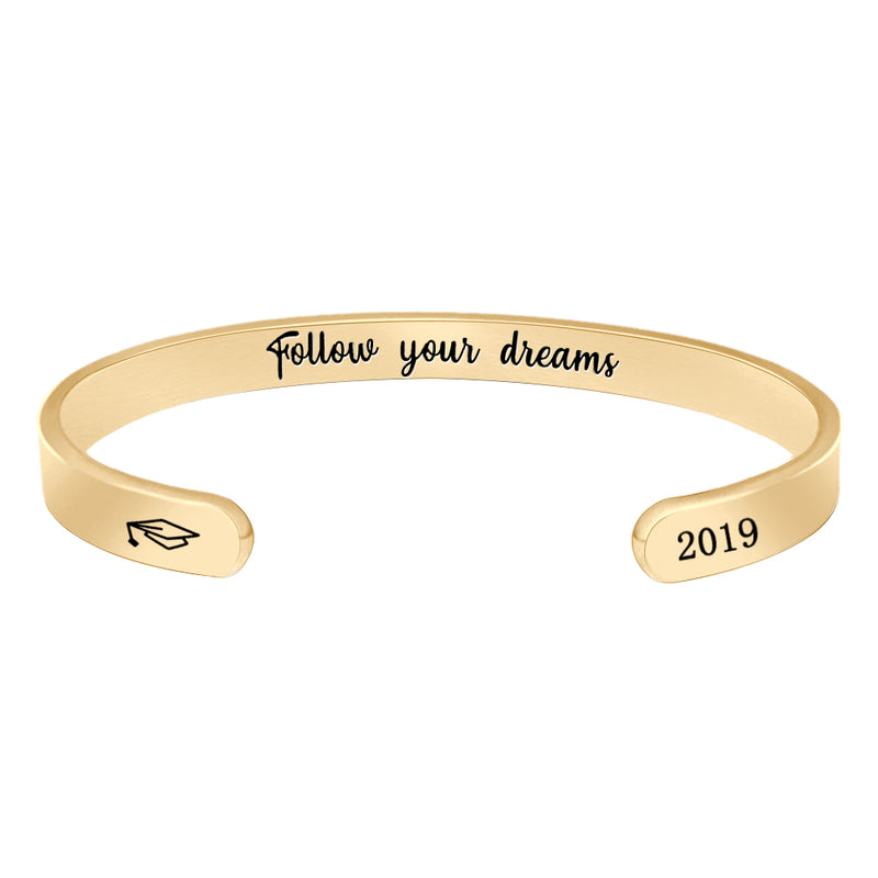 Mens cuff bracelet -Follow Your Dreams
