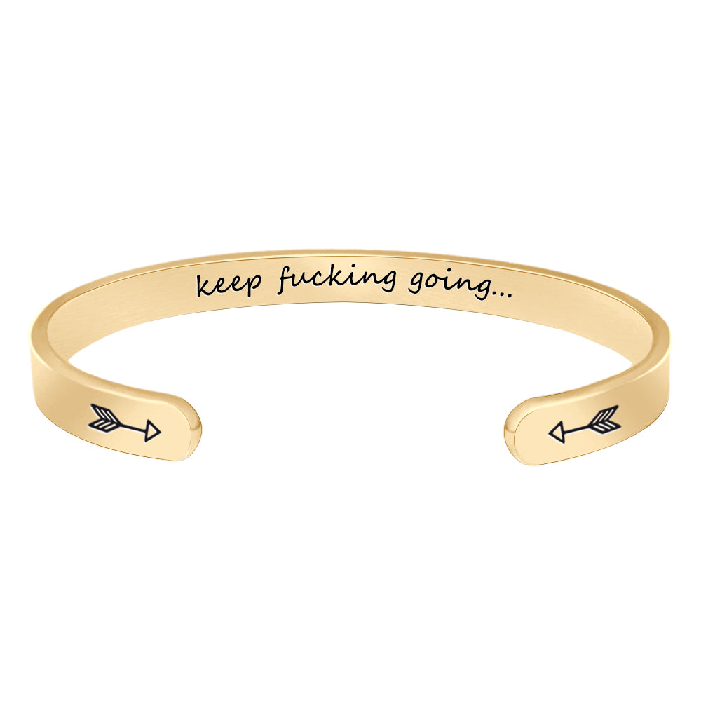 Friendship bracelet - Keep fucking going-Jewelry-Btysun