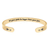 Cuff bracelet - let your faith be bigger than your fear-Cuff Bracelets-Btysun