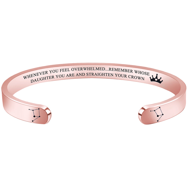 Friendship bracelet - WHENEVER YOU FEEL OVERWHELMED...REMEMBER WHOSE DAUGHTER YOU ARE...- LIBRA-Cuff Bracelets-Btysun
