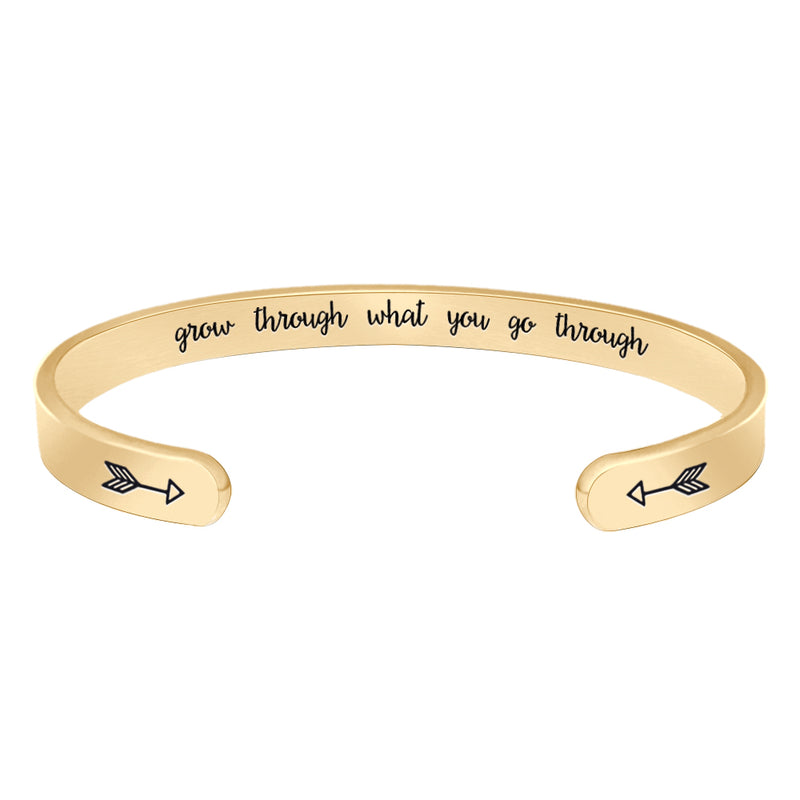 Sister bracelets for teens - Grow Through What You Go Through