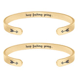 Friendship Bracelets,Gifts for yourself,also your father,mother,friend - Keep Fucking Going(2pcs)