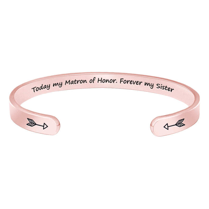 Friendship bracelet - Today my mantra of honor,forever my sister-Cuff Bracelets-Btysun