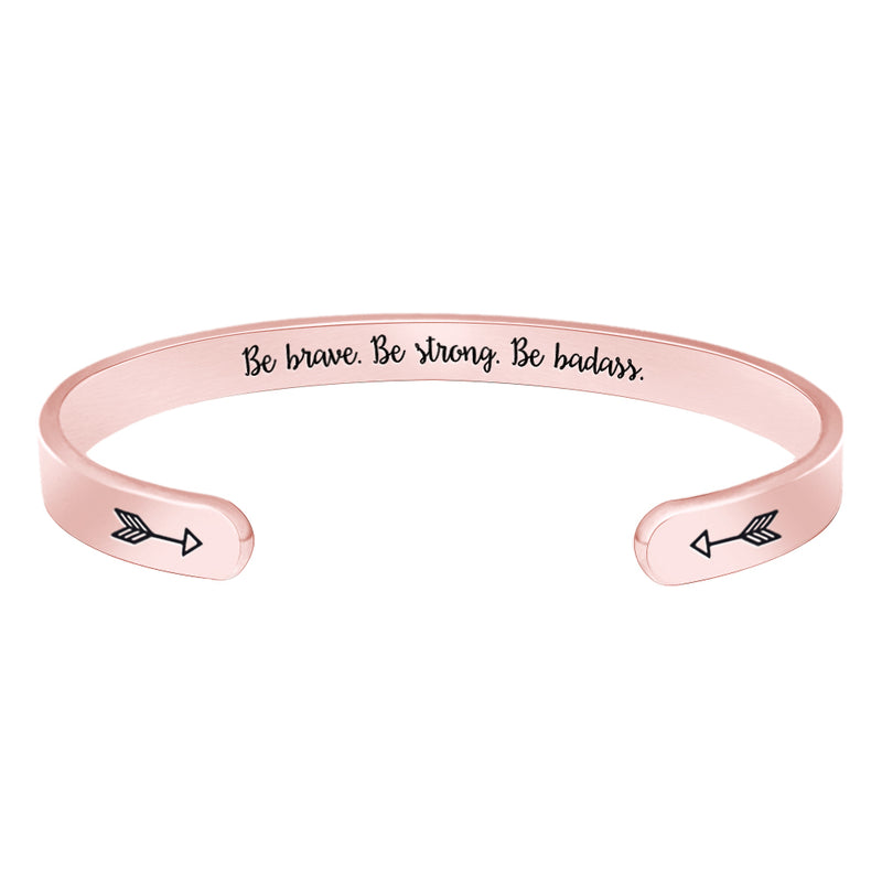 Inspriatonal Bracelets - Be brave.Be strong.Be badass