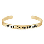 Friendship Bracelets for Women - Best Fucking Bitches Rose Gold - Inside