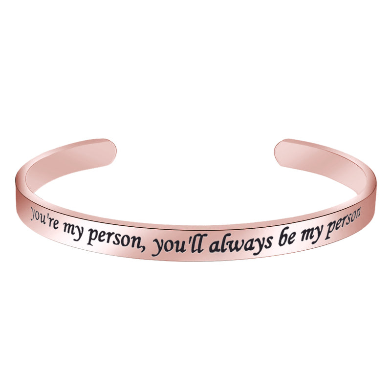 Best friend bracelet - You're my person you'll be always my person-Cuff Bracelets-Btysun