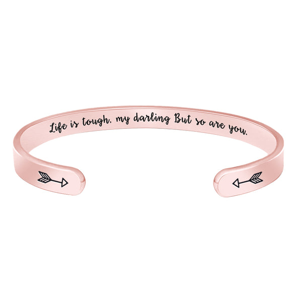 Inspirational Jewelry for Women - Life is tough,my darling but so are You