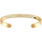 Inspirational  bracelets - Whenever you feel overwhelmed...Your Crown-SCORPIO