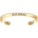 Sister bracelets - Best Bitches - Gold