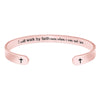Friendship bracelet - I will walk by faith even when i can not See-Cuff Bracelets-Btysun