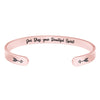 Friend bracelet - God bless your beautiful spirit.-Cuff Bracelets-Btysun
