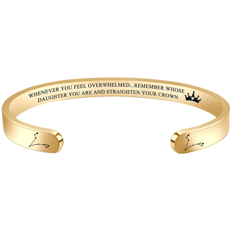 Inspirational bracelet - WHENEVER YOU FEEL OVERWHELMED...REMEMBER WHOSE DAUGHTER YOU ARE...'PISCES-Cuff Bracelets-Btysun