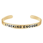 Black bracelet for women - I Am Fucking Enough