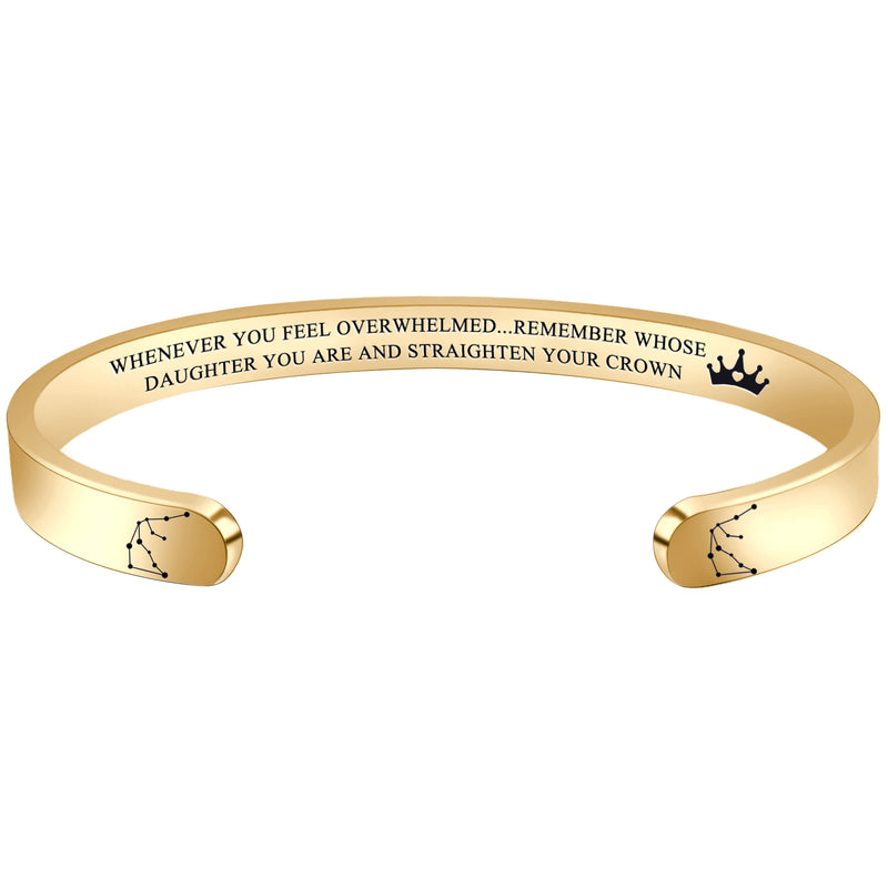 Friendship bracelet - WHENEVER YOU FEEL OVERWHELMED...REMEMBER WHOSE DAUGHTER YOU ARE...-SAGITTARIUS-Cuff Bracelets-Btysun