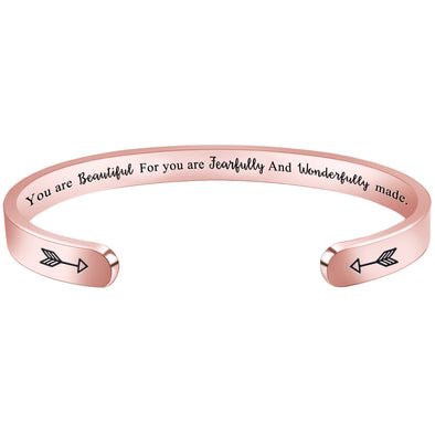 Bracelets for Women - You are Beautiful for You are Fearfully and Wonderfully Made