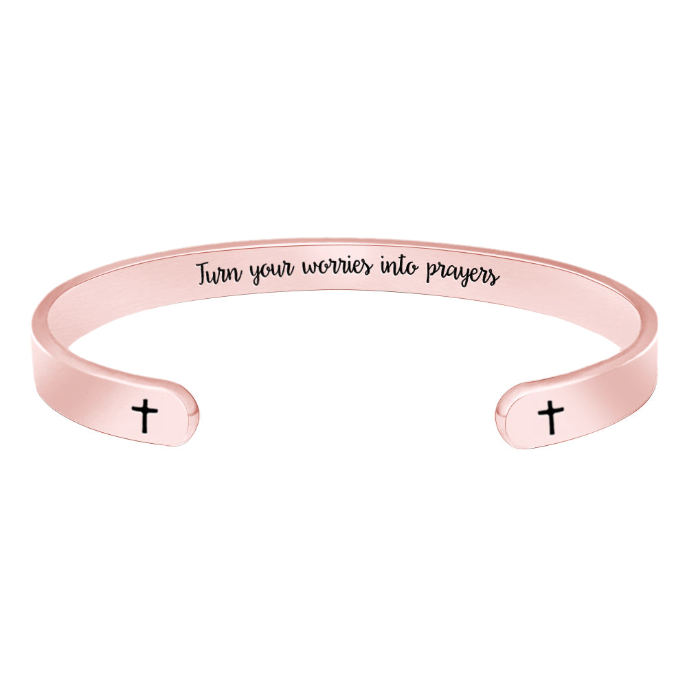 Religious Christian Bracelets for Women - Turn Your Worries into Prayers