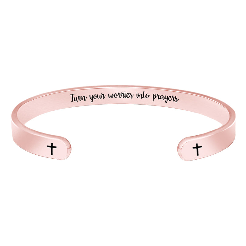 Mantra bracelets women - Turn Your Worries into Prayers