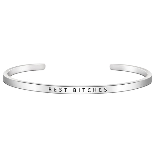 Friendship bracelet - BEST BITCHES -Skinny-Cuff Bracelets-Btysun