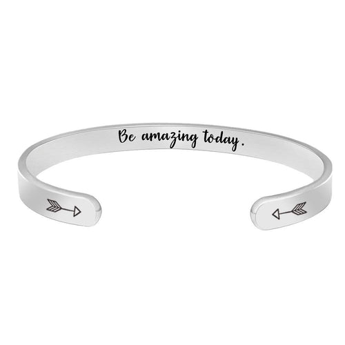 Cuff bracelet - Be amazing today-Cuff Bracelets-Btysun