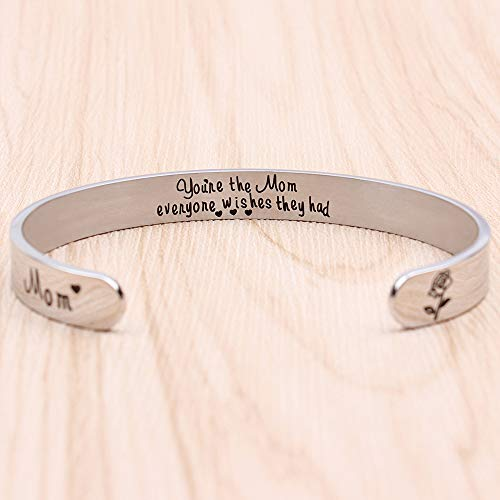 Inspirational bracelet - You're the mom everyone wishes they had-Cuff Bracelets-Btysun