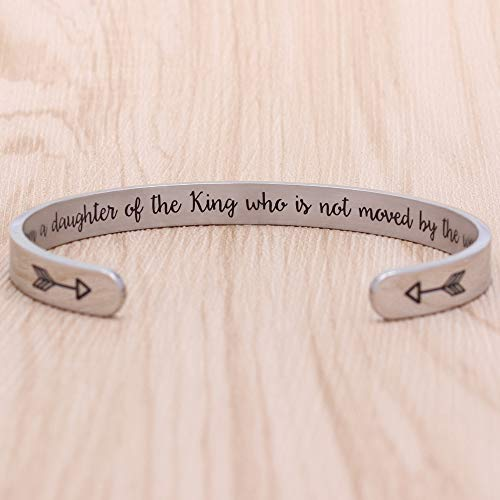 Inspirational Gifts - I am a Daughter of The King who is not Moved by The World