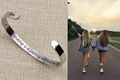 Boyfriend and girlfriend bracelets - A ture friendship is a journey without an end