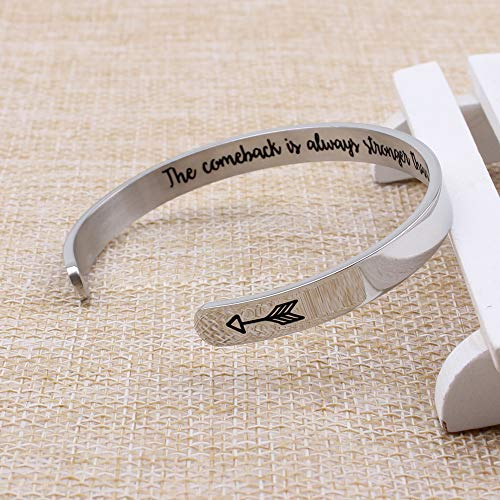 Personalized bracelet - The comeback is always stronger than the setback-Cuff Bracelets-Btysun