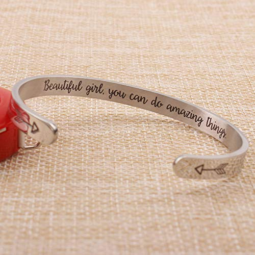 Personalized bracelet - You are great, great mom, very special, very beautiful...-Cuff Bracelets-Btysun