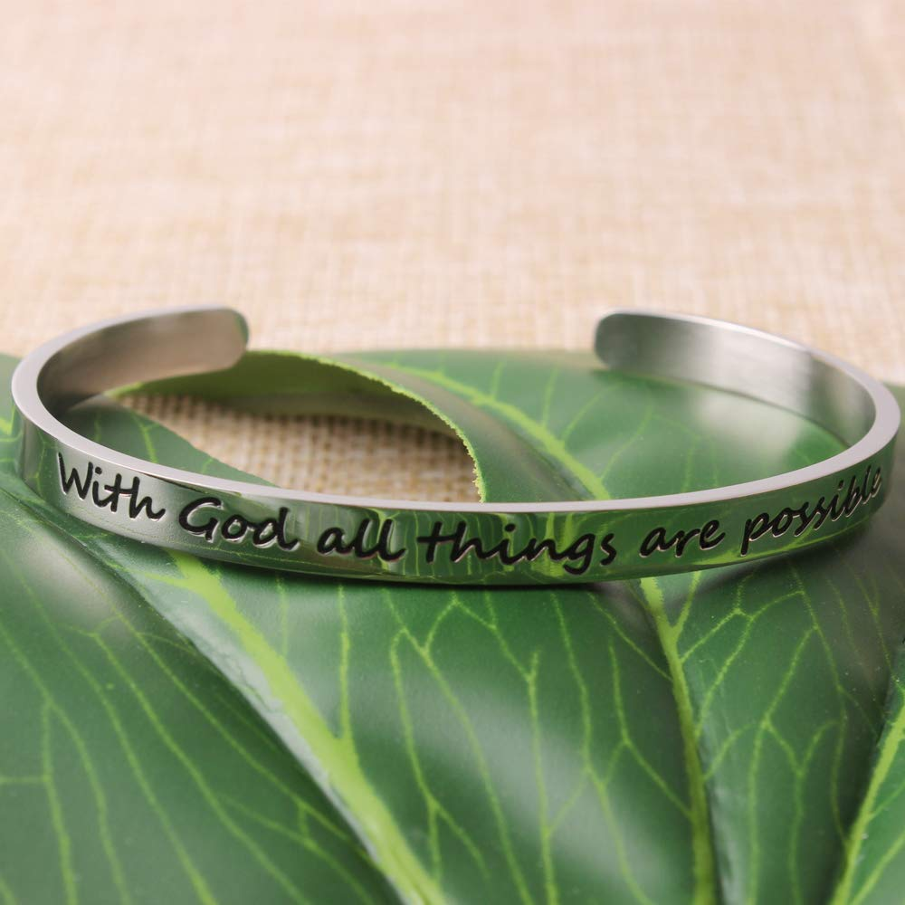 Bracelets for women - With God all things are possible