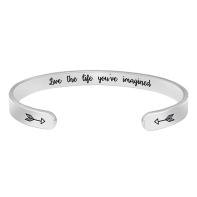 Inspirational Bracelets for Women - Live The Life You've Imagined