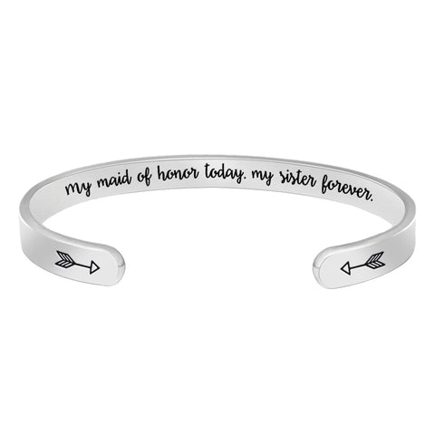 Bracelet for Women - My Maid of Honor Today,My Sister Forever