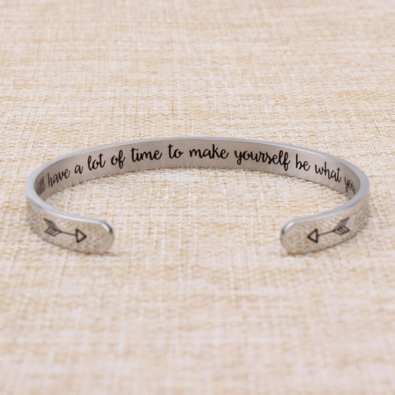 Best friend bracelet - You still have a lot of time to make yourself be what you want-Cuff Bracelets-Btysun