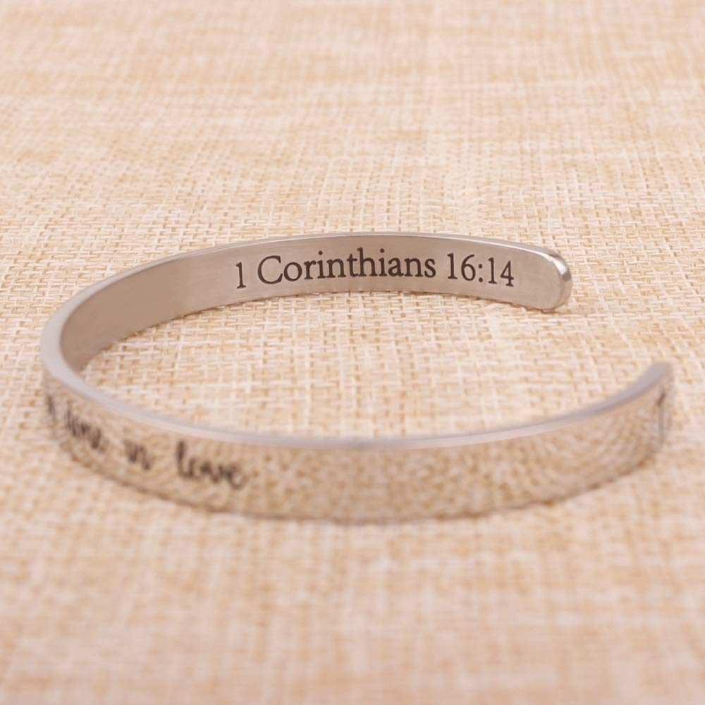 Religious Christian Bracelets for Women - Let All That You do be Done in Love