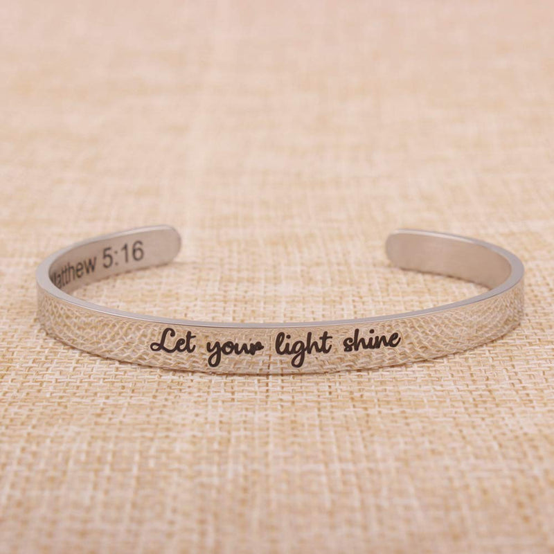 Anxiety bracelet men - Let Your Light Shine