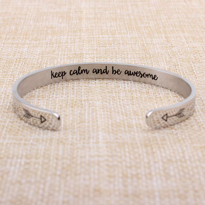 Friendship bracelet - Keep calm and awesome-Cuff Bracelets-Btysun