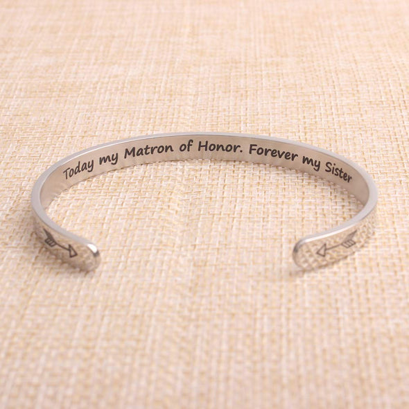 Bracelets for Women - Today My Mantra of Honor,Forever My Sister