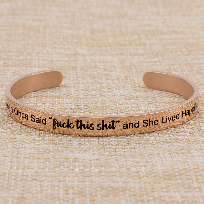 Bracelets for teens girls- A Wise Woman Once Said That...happily ever after