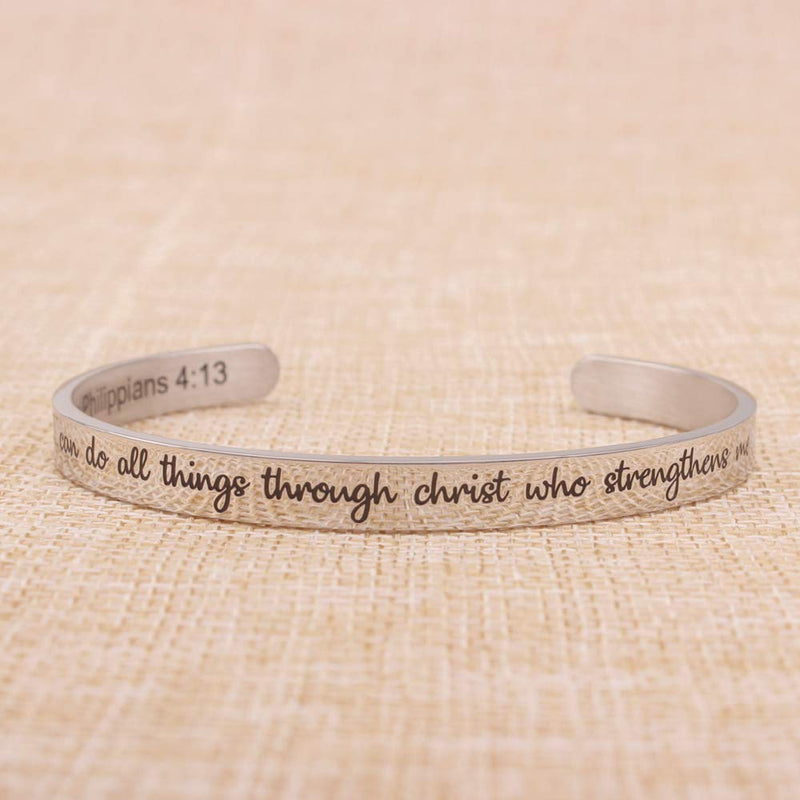 Mothers day bracelets for women - I can do All Things Through Christ who Strengthens me