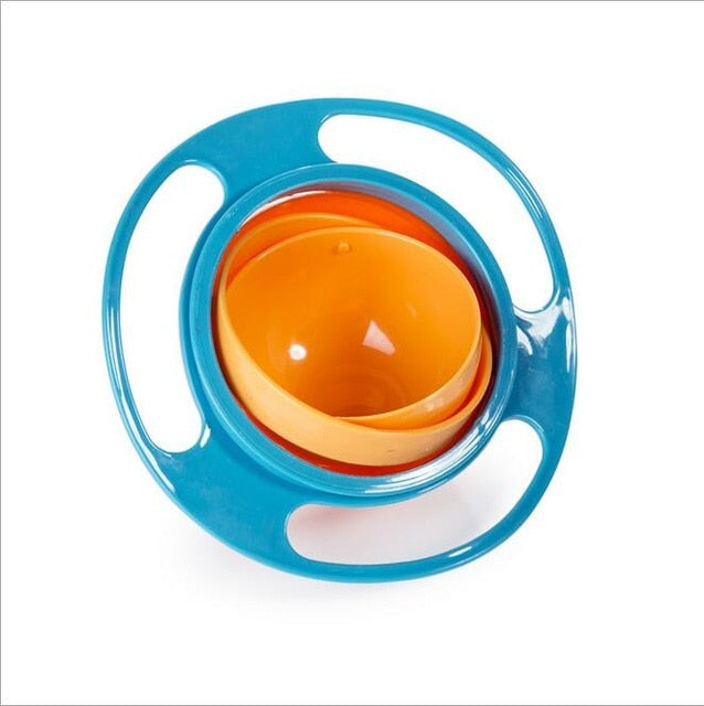 Baby Kids Plastic Gyro 360 Rotate Spill-Proof Bowl Dishes Factory Price Creative Fantastic And Practical UFO Gyroscope