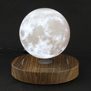 3D Magnetic Levitating Moon Lamp Wooden Base 10cm Night Lamp Floating Romantic Light Home Decoration for Bedroom EU Plug