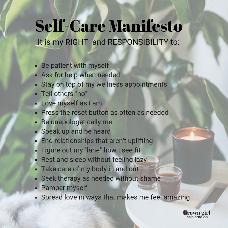 Why You Need Your Own Self-Care Manifesto Right Now