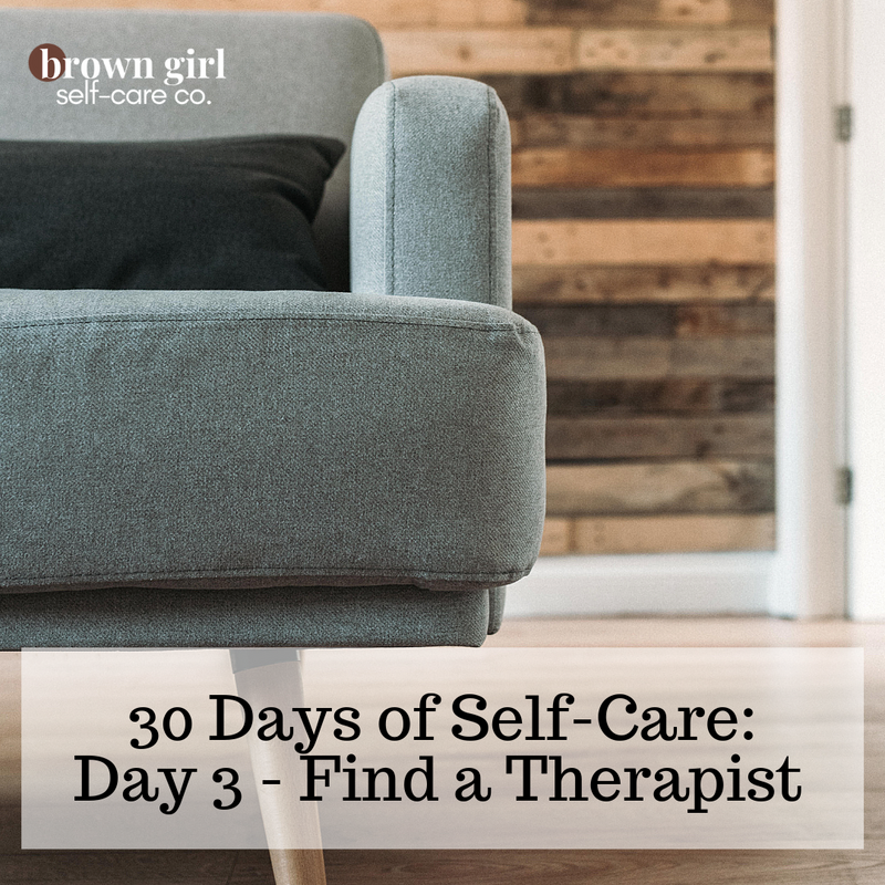 30 Days of Self-Care: Day 3 - Find a Therapist