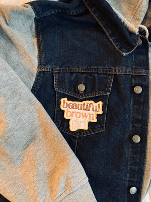 Beautiful Brown Girl Iron-On Patch